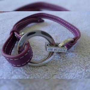 2 NWOT Lia Sophia leather wrap bracelets